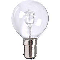 Halogen Mini Globe BC 40W Bulb - Pack of 2