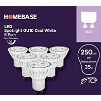 LED Cool White GU10 4W Bulb - Pack of 6