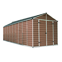 Palram SkyLight Amber Apex Shed - 8ft x 20ft