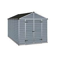 Palram SkyLight Dark Grey Apex Shed - 8ft x 12ft