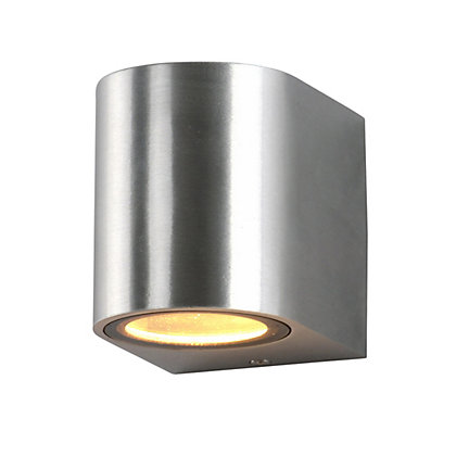 Image for Ena Single Silver Wall Light from StoreName