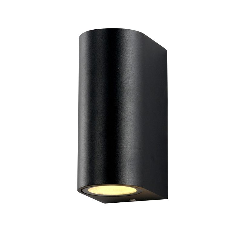E Double Black Wall Light