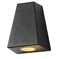 E Double Black Angled Wall Light