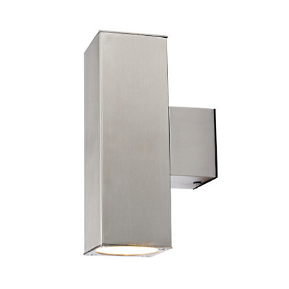 Image for E Double Silver Square Wall Light from StoreName