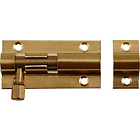 Straight Bolt - Brass - 51mm