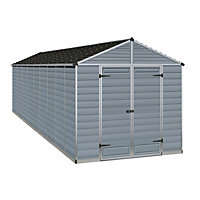 Palram SkyLight Dark Grey Apex Shed - 8ft x 20ft