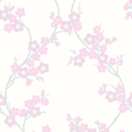 Image for Superfresco Colours Cherry Blossom Wallpaper - Soft Pink from StoreName