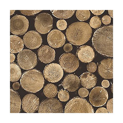 Image for Gran Deco Wood Logs Wallpaper from StoreName
