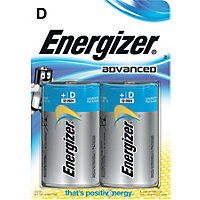 Energizer Advanced D Cell Battery - 2 Pack