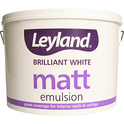 Image for Leyland Matt Emulsion - Brilliant White - 10L from StoreName