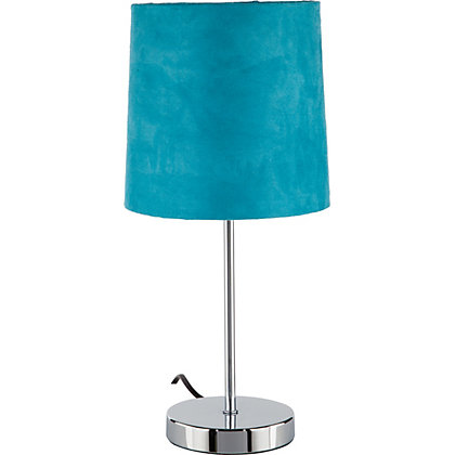 Image for Touch Faux Suede Table Lamp - Teal from StoreName