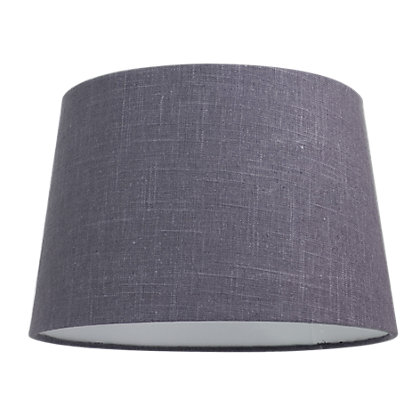 Image for Linen Taper 30cm Charcoal Shade from StoreName