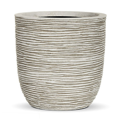 Image for Ribbed Egg Garden Planter in Ivory - 34cm from StoreName