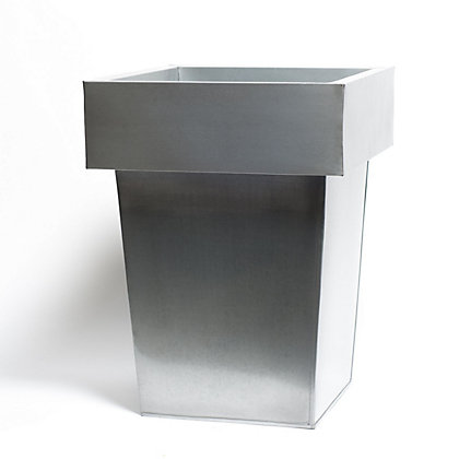 Image for Luna Metal Square Garden Planter - Grey - 40cm from StoreName