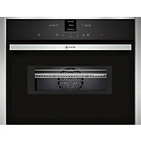 Neff C17MR02N0B Combination Microwave Oven - Black Glass & Stainless Steel