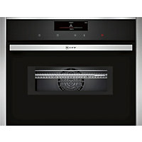 Neff C18MT36N0B Combination Microwave & Oven - Black Glass & Stainless Steel