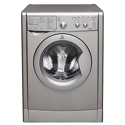 Image for Indesit Ecotime IWDC 6125 S Washer Dryer - Silver from StoreName