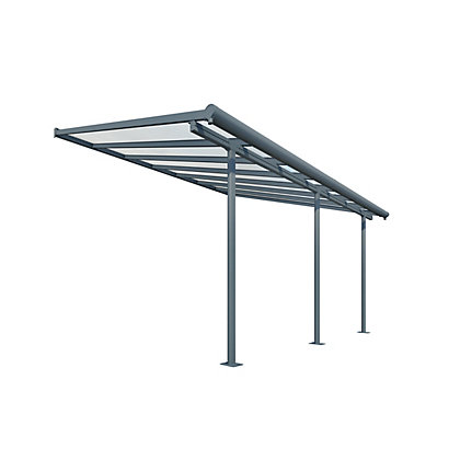 Image for Palram Sierra Patio Cover - 3x9.15M, Grey & Clear from StoreName