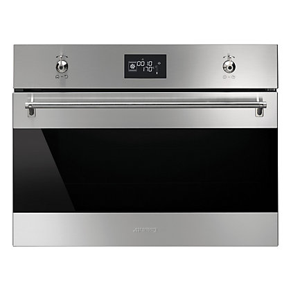 Image for Smeg SF4390VCX 4120VC 60cm Classic Compact Combination Steam Oven - Stainless Steel from StoreName