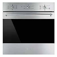 Smeg SF6341GVX 60cm Classic built-in Single Gas Oven - Stainless Steel