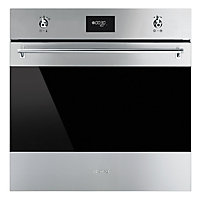 Smeg SFP6378X 60cm Classic Single Pyrolytic Oven - Stainless Steel