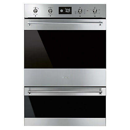 Image for Smeg DOSP6390X 60cm Classic Double Pyrolytic Oven - Stainless Steel from StoreName