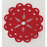 Red Felt Cut Out Placemats - Set of 2