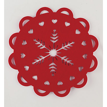 Image for Red Felt Cut Out Placemats - Set of 2 from StoreName