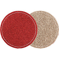 Reversible Glitter Coasters - Set of 4