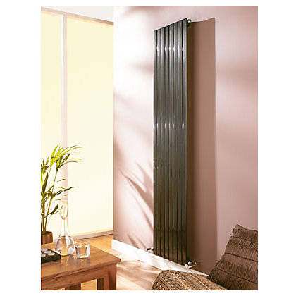 Image for Vicenza Verti Radiator - 1820mm x 452mm - Light Silver from StoreName