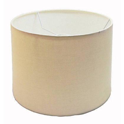 Image for Linen Drum Shade - Cream - 25cm from StoreName