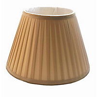 Round Knife Pleat Shade - Champagne - 30cm