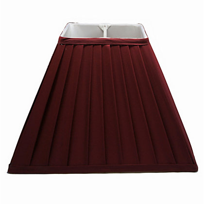 Image for Square Knife Pleat Shade - Red - 30cm from StoreName