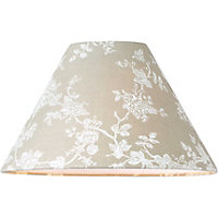 Floral Coolie Shade - 25cm - Cream