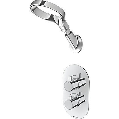 Image for Methven Aio Aurajet Shower & Short Arm in Chrome from StoreName