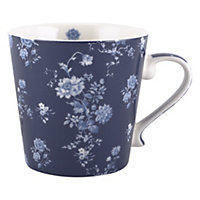 National Trust Blue Floral Mug