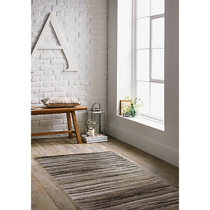 Image for Karnaby Stripe Grey Rug - 120 x 170cm from StoreName