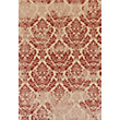 Neon Damask Beige & Red Rug - 120 x 170cm