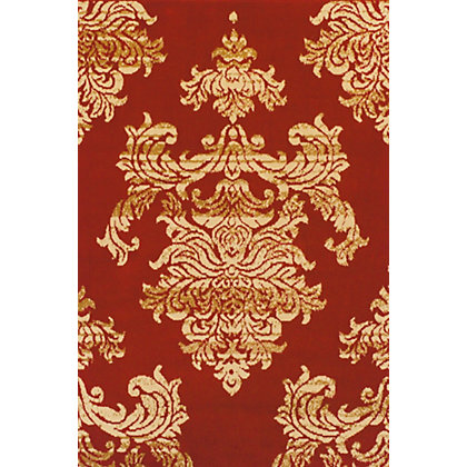 Image for Glenwod Damask Rug Red 120 x 170cm from StoreName