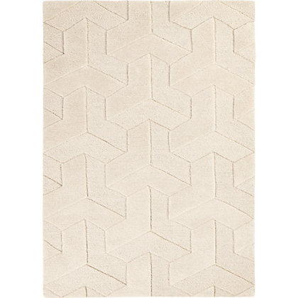 Image for Camara Geo Cube Rug Beige 120 x 170cm from StoreName