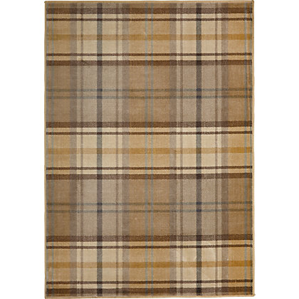 Image for Alva Tartan Check Rug Beige 120 x 170cm from StoreName