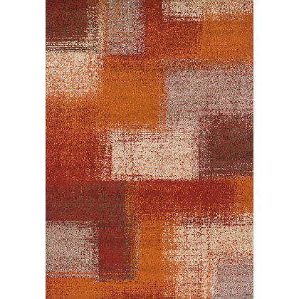 Image for Kaye Squares Beige & Rust Rug - 120 x 170cm from StoreName