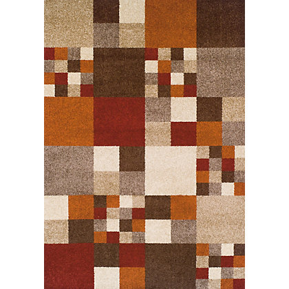 Image for Kaye Mosaic Beige & Rust Rug - 120 x 170cm from StoreName
