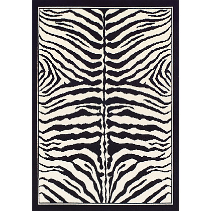 Image for Verde Zebra Black & White Rug - 120 x 170cm from StoreName