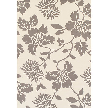 Image for Verde Floral Grey & White Rug - 120 x 170cm from StoreName