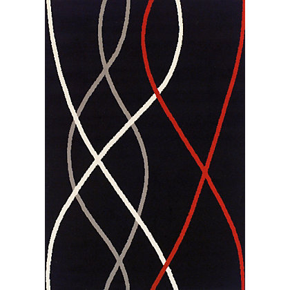 Image for Verde Wave Black Rug - 120 x 170cm from StoreName