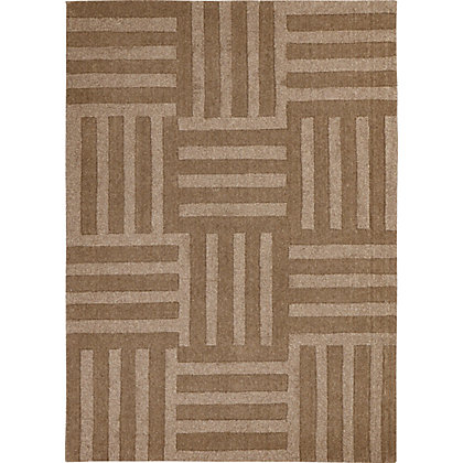 Image for Carlos Chequered Square Rug Natural 120 x 170cm from StoreName