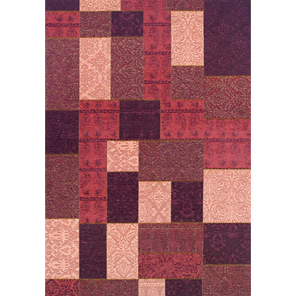 Image for Apelle Patchwork Rug Burgundy 120 x 170cm from StoreName