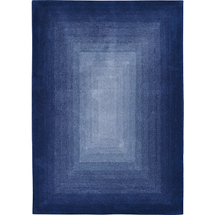 Image for Rimini Radial Ombre Rug Blue 120 x 170cm from StoreName