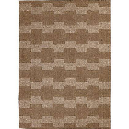 Image for Ebony Geometric Ribs Rug Natural 120 x 170cm from StoreName